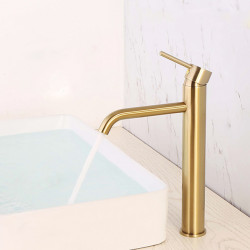 Bathroom Sink Faucet - Widespread Multi-Ply Free Standing Single Handle One HoleBath Faucet