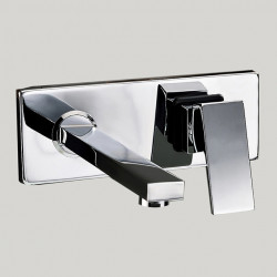 Bathroom Sink Faucet - Standard,Wall Mount Chrome Wall Mounted Two Holes,Single Handle Two Holes Bath Faucet