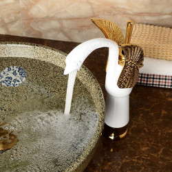 Bathroom Sink Faucet - Standard Painted Finishes Centerset Single Handle One HoleBath Faucet