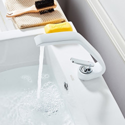 Bathroom Sink Faucet - Widespread Painted Finishes Centerset Single Handle One HoleBath Faucet