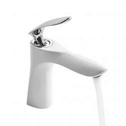 Bathroom Sink Faucet - Widespread Chrome,Painted Finishes Vessel Single Handle One HoleBath Faucet,Brass