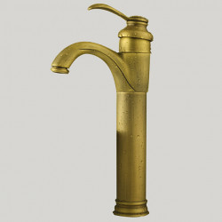 Bathroom Sink Faucet - Rotatable Antique Brass Vessel One Hole,Single Handle One HoleBath Faucet