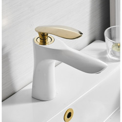 Bathroom Sink Faucet - Widespread Painted Finishes,Black Free Assemblement Single Handle One HoleBath Faucet