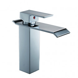 Bathroom Sink Faucet - Widespread Electroplated Centerset Single Handle One HoleBath Faucet