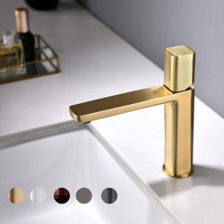 Bathroom Sink Faucet - Rotatable Electroplated Centerset Single Handle One HoleBath Faucet