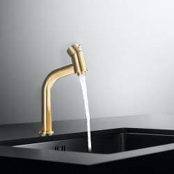 Bathroom Sink Faucet - Waterfall Nickel Brushed,Electroplated Centerset Single Handle One HoleBath Faucet