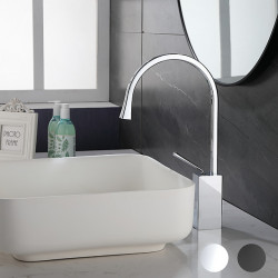 Bathroom Sink Faucet - Rotatable Electroplated,Painted Finishes Centerset Single Handle One HoleBath Faucet