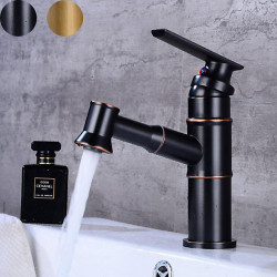 Bathroom Sink Faucet - Pull out Oil-rubbed Bronze,Antique Brass Centerset Single Handle One HoleBath Faucet