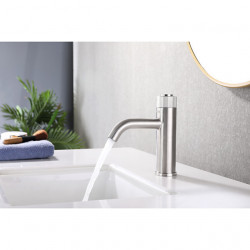 Bathroom Sink Faucet - Rotatable Stainless Steel Mount Outside Single Handle One HoleBath Faucet