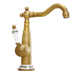 Bathroom Sink Faucet - Widespread Electroplated Other Single Handle One HoleBath Faucet