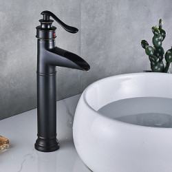 Faucet Set - Waterfall Oil-rubbed Bronze Centerset Single Handle One HoleBath Faucet