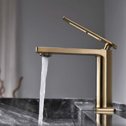 Single HandleBathroom Faucet,Painted Finishes,Electroplated,Chrome One Hole Centerset,Brass Bathroom Sink Faucet with Hollow...