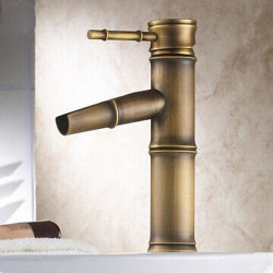 Bathroom Sink Faucet - Waterfall Antique Brass Centerset One Hole,Single Handle One HoleBath Faucet