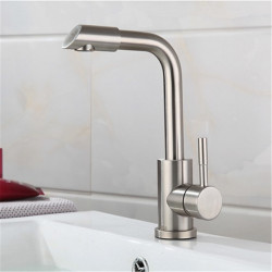 Stainless Steel Basin Faucet Hot And Cold Brushed Rotating Wash Basin Wash Basin Faucet Without Hose