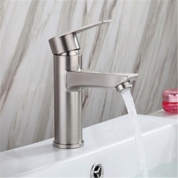 304 stainless steel hot and cold basin faucet wash basin faucet under counter basin faucet 304 single hole hot and cold