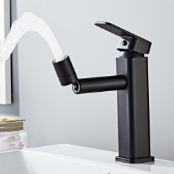 Bathroom Sink Faucet - Rotatable Electroplated Other Single Handle One HoleBath Faucet