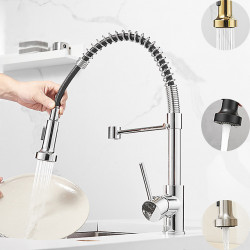 Kitchen faucet - Single Handle One Hole Multi-Ply Pull-out,Pull-down Free Standing Contemporary Kitchen Faucet