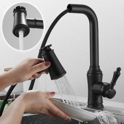 Kitchen faucet - Single Handle One Hole Electroplated,Painted Finishes Pull-out,Pull-down,Standard Spout,Tall,High Arc...