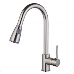 Kitchen faucet Nickel Brushed Standard Spout Vessel Modern Contemporary,Fashion Kitchen Faucet,Brass High Arc