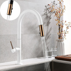 Kitchen faucet - Single Handle One Hole Electroplated,Painted Finishes Pull-out,Pull-down,Tall,High Arc Free Standing...