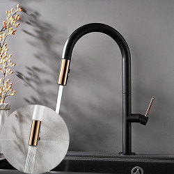 Kitchen faucet - Single Handle One Hole Painted Finishes Pull-out,Pull-down,Tall,High Arc Contemporary,Antique Kitchen Faucet