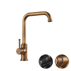 Single HandleKitchenFaucet,Antique Brass,Black Nickel One Hole Standard Spout,Filter,Brass KitchenFaucet Contain with Cold...