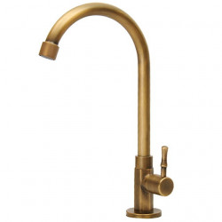 Single HandleKitchenFaucet,Electroplated OneHole Standard Spout,Rotatable,Tall,High Arc Basin Faucet,Brass Kitchen Faucet...