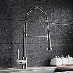 Kitchen faucet - Single Handle One Hole Nickel Brushed Pull-out,Pull-down Vessel