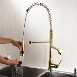 Kitchen faucet - Single Handle One Hole Electroplated,Painted Finishes Tall,High Arc Mount Outside Contemporary Kitchen Faucet