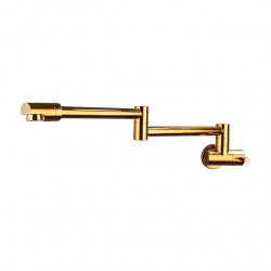 Kitchen faucet - Single Handle One Hole Ti-PVD Pot Filler Wall Installation