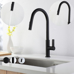 Kitchen faucet - Single Handle One Hole Electroplated,Painted Finishes Pull-out,&shy,Pull-down,Tall,&shy,High Arc Other...