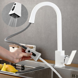 Kitchen faucet - Single Handle One Hole Nickel Brushed,Electroplated,Painted Finishes Pull-out,Pull-down,Standard...