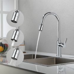 Kitchen faucet - Single Handle One Hole Chrome,Electroplated Pull-out,&shy,Pull-down,Tall,&shy,High Arc Contemporary Kitchen...