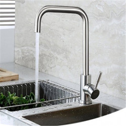304 Stainless Steel Kitchen Faucet Hot And Cold Sitting Type Rotatable Sanitary Sink Vegetable Basin Faucet