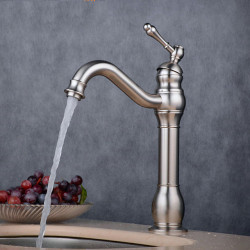 Bathroom Sink Faucet - Widespread Electroplated Faucet Single Handle One HoleBath Faucet,Brass, Glod,Chrome,Black,Antique...