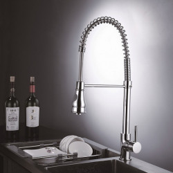 Kitchen faucet - Single Handle One Hole Electroplated Pull-out,Pull-down Centerset Contemporary Kitchen Faucet