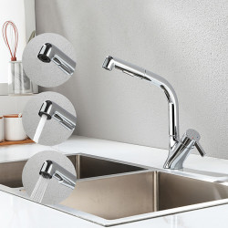 Kitchen faucet - Single Handle One Hole Chrome,Electroplated Pull-out,&shy,Pull-down Other Contemporary Kitchen Faucet