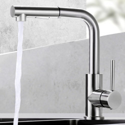 Kitchen faucet - Single Handle One Hole Nickel Brushed Pull-out,Pull-down Other Contemporary Kitchen Faucet