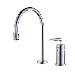 Kitchen faucet - Single Handle Two Holes Chrome,Oil-rubbed Bronze,Electroplated Standard Spout,Tall,High Arc Widespread...