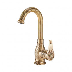 Kitchen faucet - Single Handle One Hole Multi-Ply Standard Spout,Tall,High Arc Free Standing,Brass