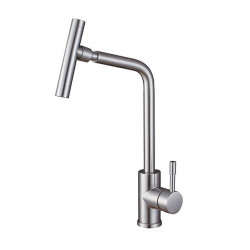 Kitchen faucet - Single Handle One Hole Nickel Brushed Centerset Contemporary Kitchen Faucet