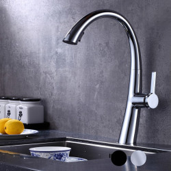 Kitchen faucet - Single Handle One Hole Chrome,Electroplated,Painted Finishes Pull-out ,Pull-down Centerset Contemporary...