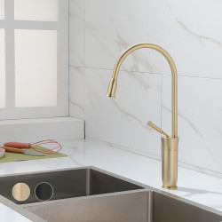 Kitchen faucet - Single Handle One Hole Painted Finishes Tall,High Arc Mount Outside Contemporary Kitchen Faucet