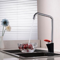 Kitchen faucet - Single Handle One Hole Painted Finishes Standard Spout Mount Outside Contemporary Kitchen Faucet