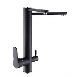 Kitchen faucet - Two Handles One Hole Electroplated Standard Spout Ordinary Kitchen Faucet