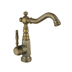 Kitchen faucet - Single Handle One Hole Electroplated,Rose Gold Standard Spout Other Antique Kitchen Faucet,Brass