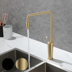 Kitchen faucet - Single Handle One Hole Painted Finishes Tall ,High Arc Mount Outside Contemporary Kitchen Faucet