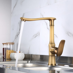 Single Handle One Hole Antique Brass,Electroplated Standard Spout Centerset