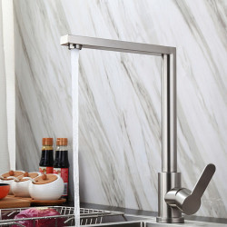 Kitchen faucet - Single Handle One Hole Stainless Steel Standard Spout Ordinary Kitchen Faucet