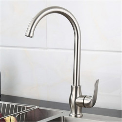 304 stainless steel kitchen faucet lead-free drawing rotating hot and cold sink dish washing basin faucet